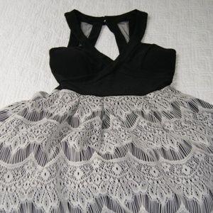 Halter Top Sleeveless Knee Length Dress